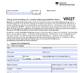 V0027 für die Statusklärung